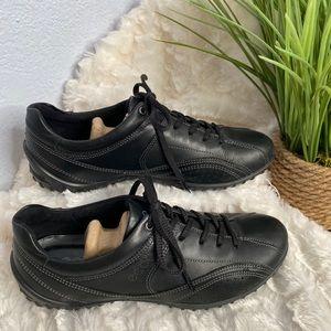 ECCO black charm tie walking shoe size 38